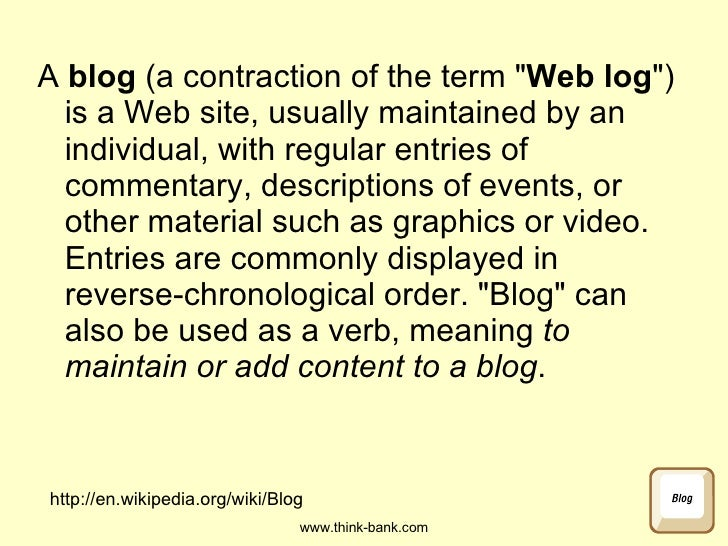 Blogging in Schools Slide 3