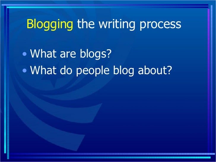 Blogging The Writing Process With Teens Slide 2