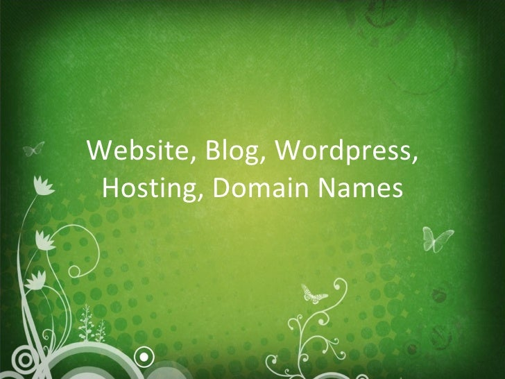 Website, Blog, Wordpress, Hosting, Domain Names