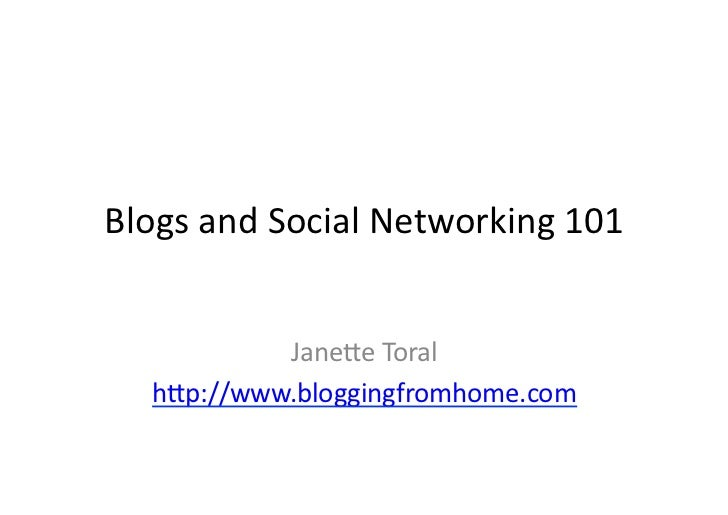 Blogging and Social Media 101