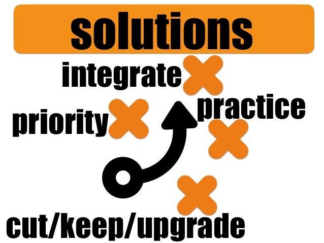 integrate cut/keep/upgrade practicepriority solutions