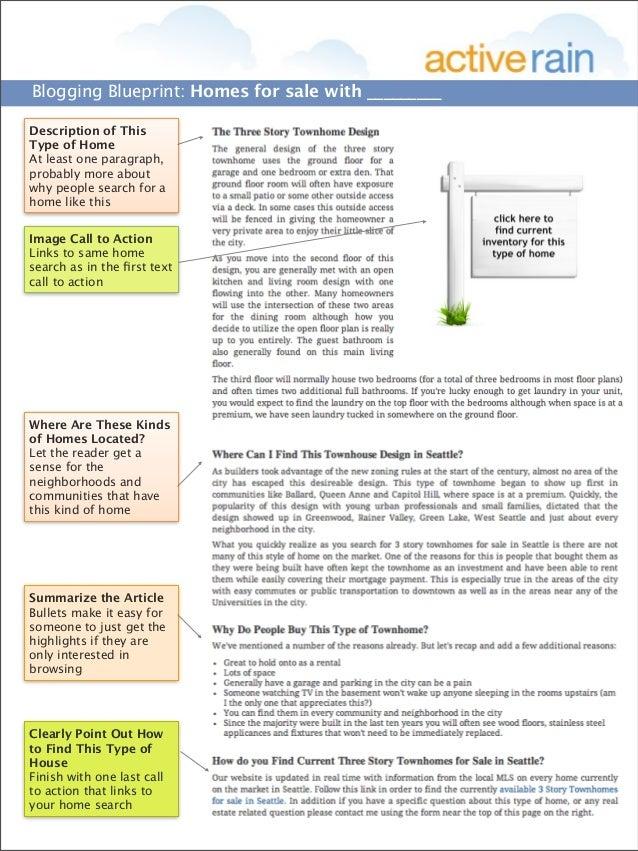 Activerain blogging blueprint homes for sale with something 2 blogging blueprint homes for sale malvernweather Gallery