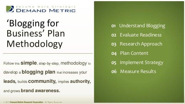 Plan the Blog; Blog the Plan
