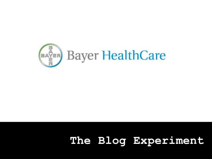 The Blog Experiment <br />