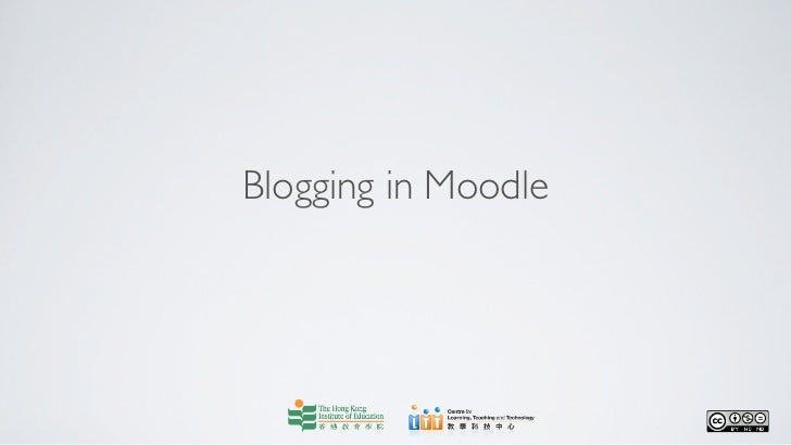 Blogging in Moodle