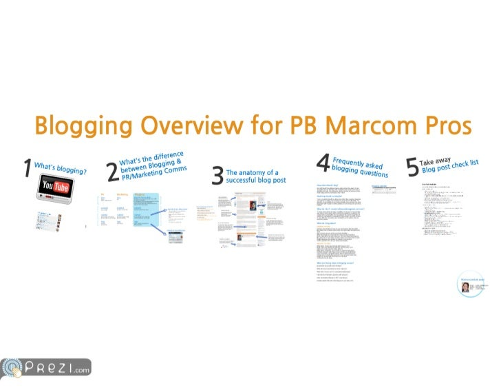 Blogging overview for marcom professionals