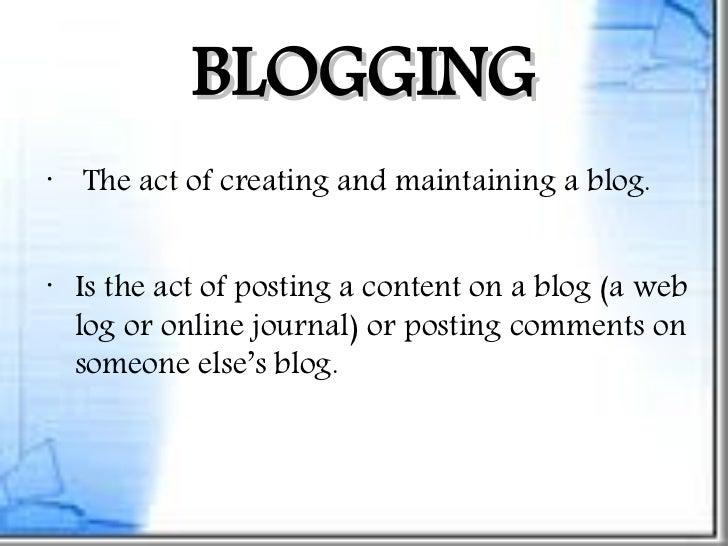 Blogging ppt
