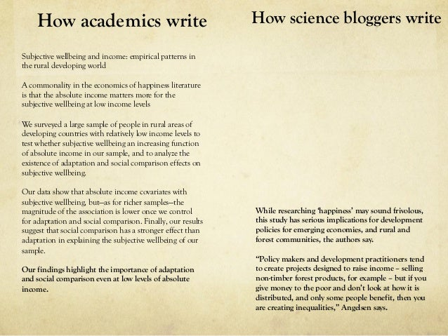 How To Write A Science Blogpost People Want To Read