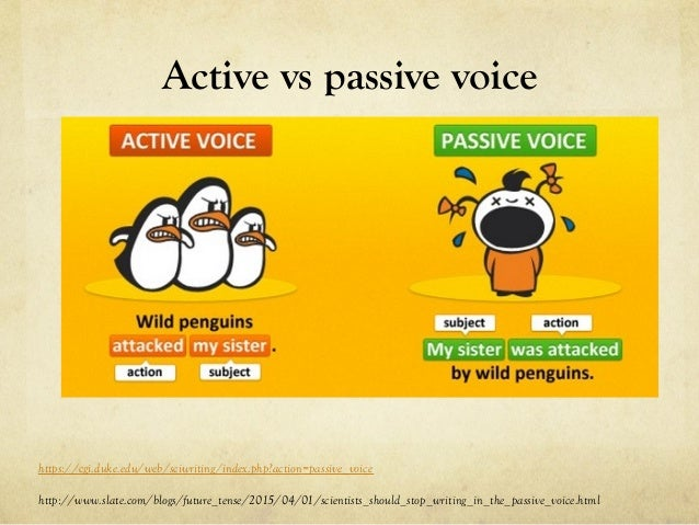Academic writing style passive voice
