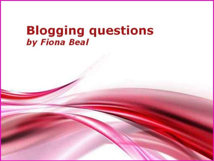 This presentation looks at…1.How can people join my blog?2.How can I add a blogroll to my blog?3.How can I edit a post I h...