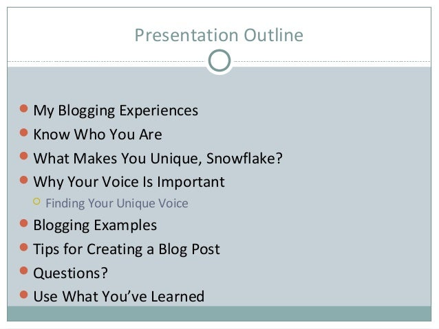 Blogging with passion and authority Slide 2