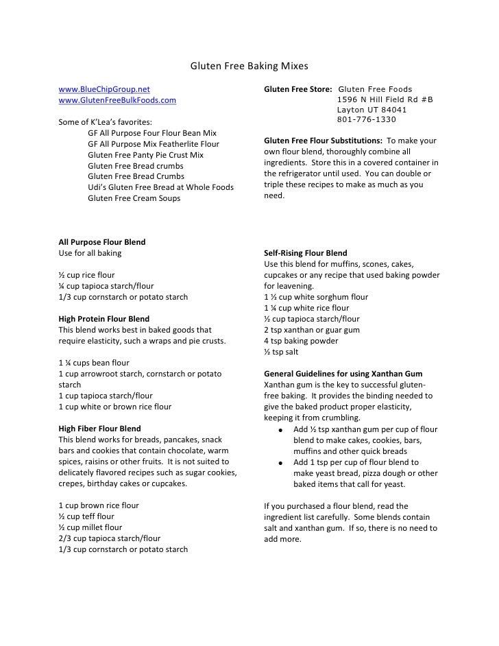 Gluten Free Baking Mixes<br />www.BlueChipGroup.net<br />www.GlutenFreeBulkFoods.com<br />Some of K'Lea's favorites:  <br ...
