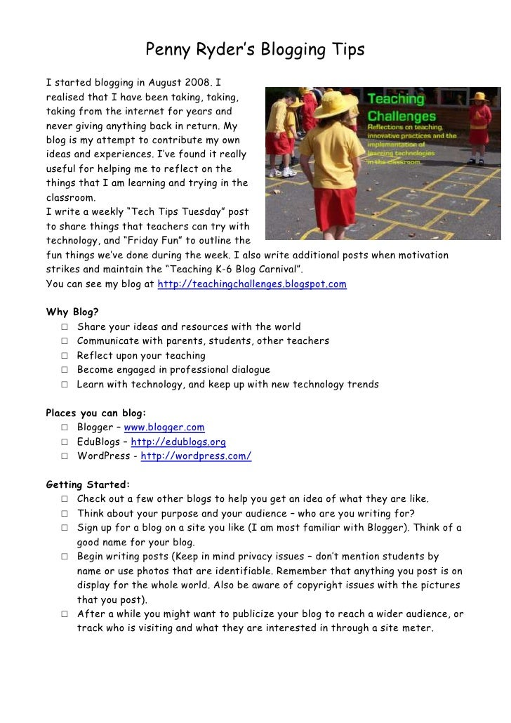 Penny Ryder's Blogging Tips<br />3251835188595I started blogging in August 2008. I realised that I have been taking, takin...