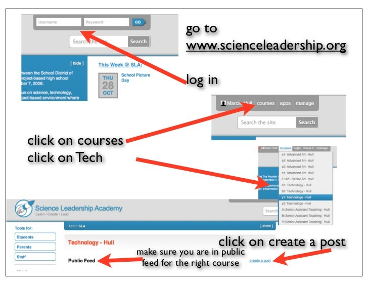 go to                               www.scienceleadership.org                               log inclick on coursesclick on...