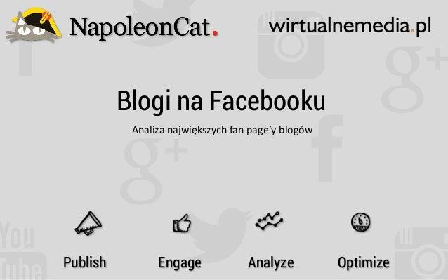 Blogi na Facebooku Analiza  największych  fan  page'y  blogów   Publish Engage Analyze Optimize