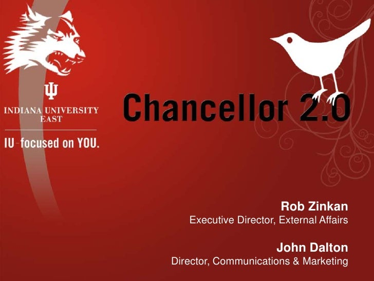 Rob Zinkan<br />Executive Director, External Affairs<br />John Dalton<br />Director, Communications & Marketing<br />