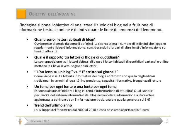 Rapporto tra blog e informazione online - Versione Completa Slide 3