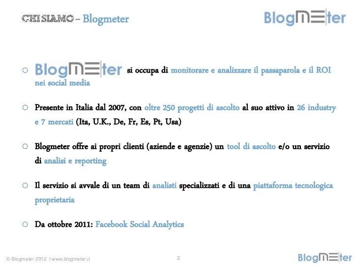 Would you be my fan? Categorie di prodotto sulle pagine Facebook italiane Slide 2