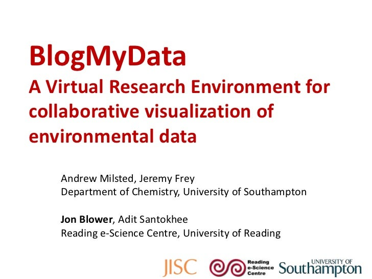 BlogMyDataA Virtual Research Environment for collaborative visualization of environmental data<br />Andrew Milsted, Jeremy...
