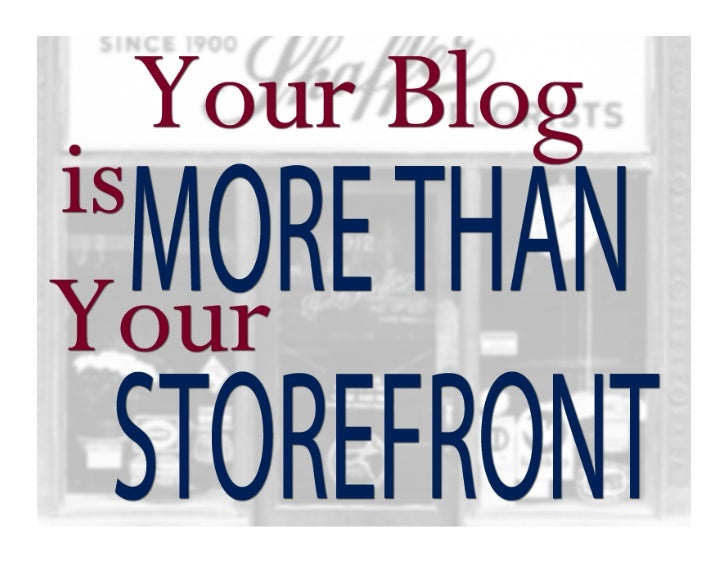 """A blog is not a more in-depth """"about us"""" page.A blog is not a rehash of the company statement. Stuck in a rut with your bu..."""