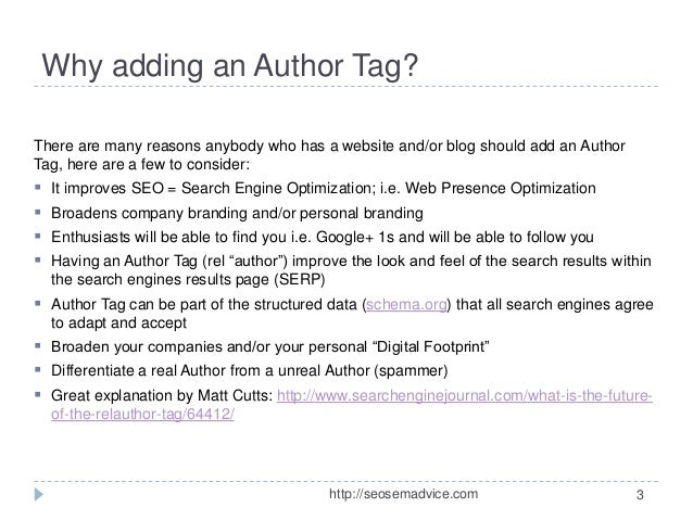 author tag