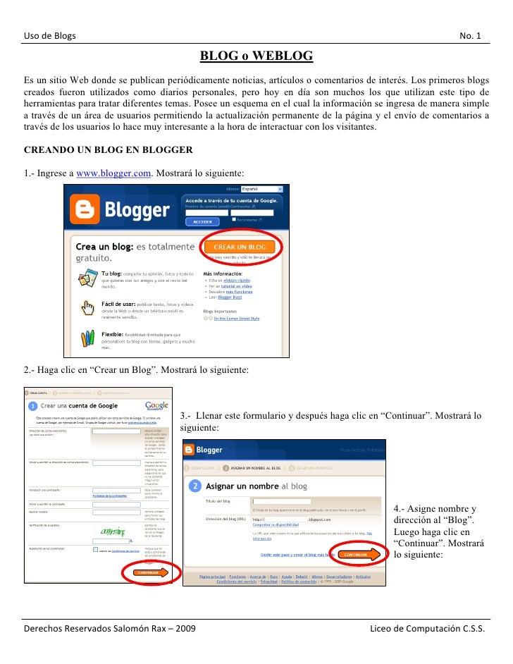 Uso de Blogs                                                                                              No. 1           ...