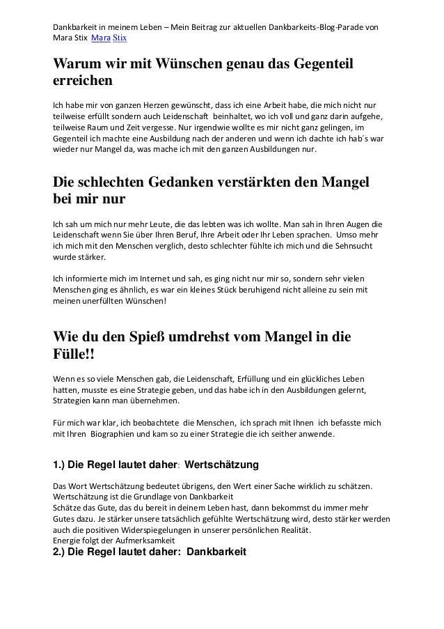 Dankbarkeit in meinem Leben – Mein Beitrag zur aktuellen Dankbarkeits-Blog-Parade von Mara Stix Mara Stix Warum wir mit Wü...