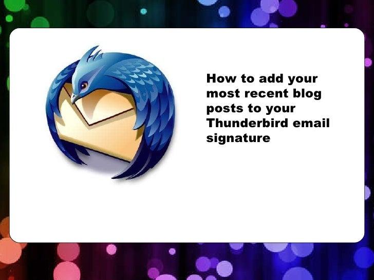 how to use thunderbird mail