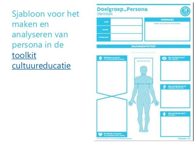 Sjabloon voor het maken en analyseren van persona in de toolkit cultuureducatie