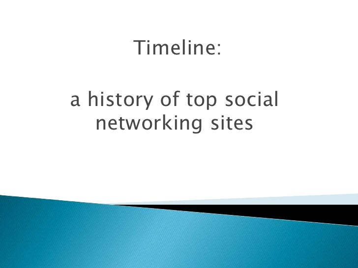 Timeline:  <br />a history of top social networking sites<br />