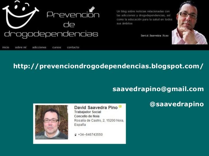 XING – Powering Relationships http://prevenciondrogodependencias.blogspot.com/ [email_address] @saavedrapino