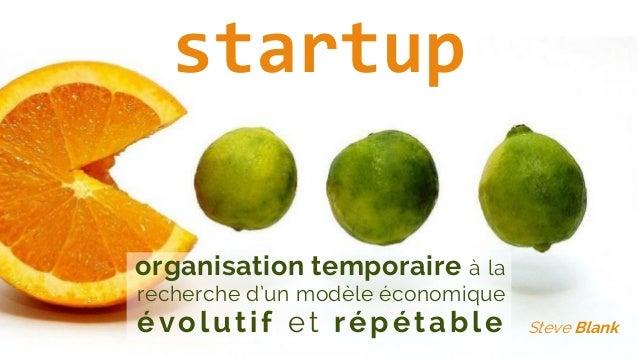 organisation temporaire à la recherche d'un modèle économique évolutif et répétable Steve Blank startup