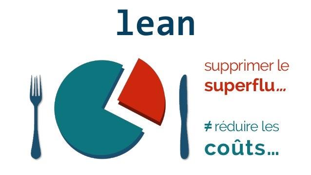 lean ≠ réduire les coûts… supprimer le superflu…