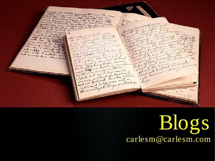 Blogs carlesm@carlesm.com