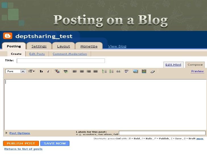 Posting on a Blog<br />