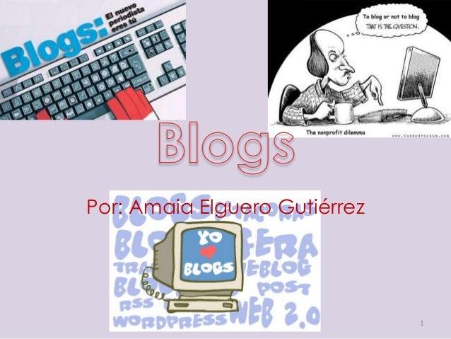 Por: Amaia Elguero Gutiérrez 1