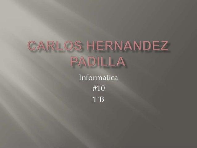 Informatica #10 1`B