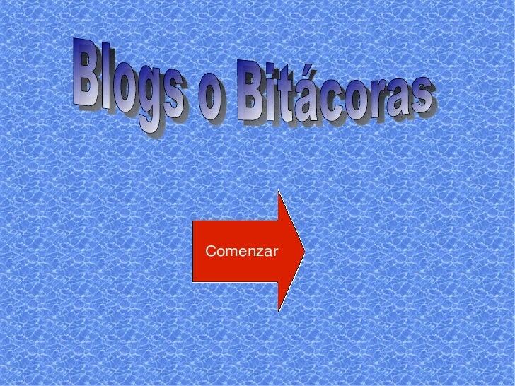 Blogs o Bitácoras