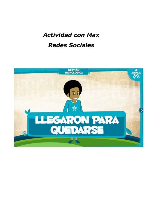 Actividad con Max Redes Sociales