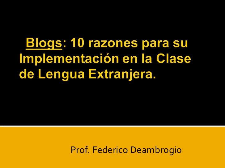 Prof. Federico Deambrogio