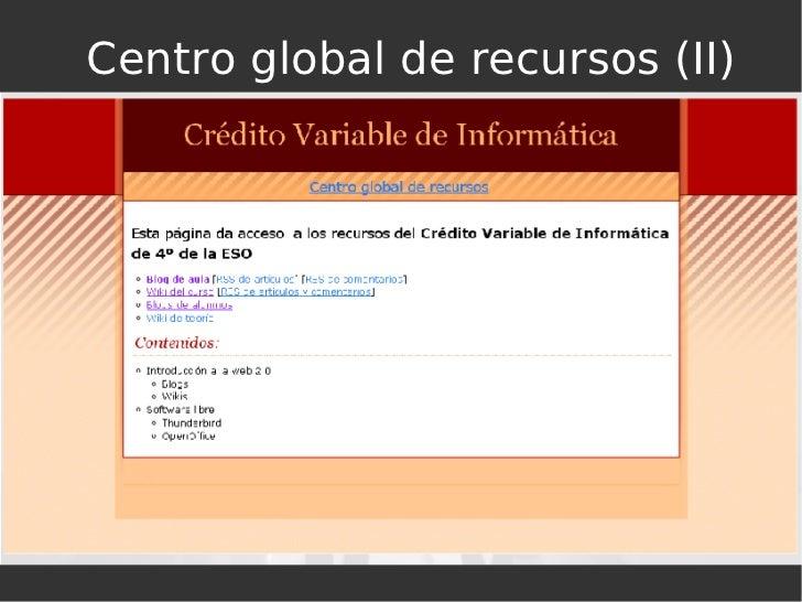 Centro global de recursos (II)