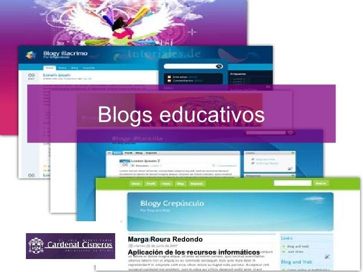 Blogs educativos Marga Roura Redondo Aplicación de los recursos informáticos