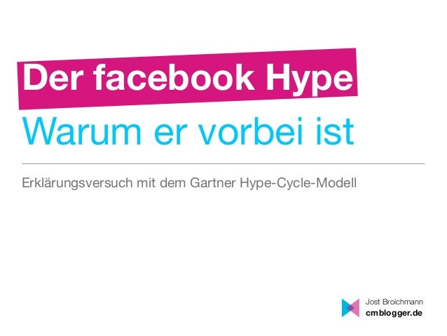 Der facebook HypeWarum er vorbei istErklärungsversuch mit dem Gartner Hype-Cycle-Modell                                   ...
