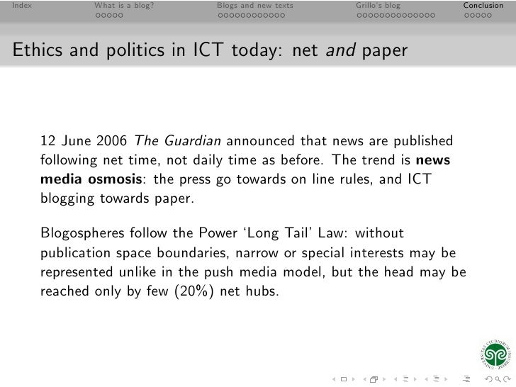 thesis on ict policy and regulation The university of queensland's information, communications and technology (ict) resources are provided to support and enhance the university's activities this policy informs users of uq ict resources of their rights and responsibilities.
