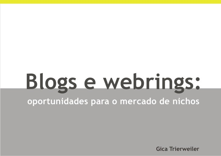 Blogs & Webrings