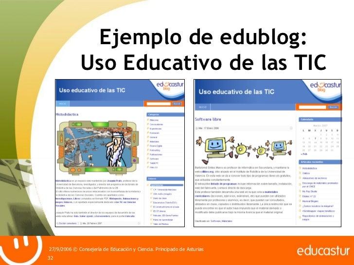 Ejemplo de edublog: Uso Educativo de las TIC