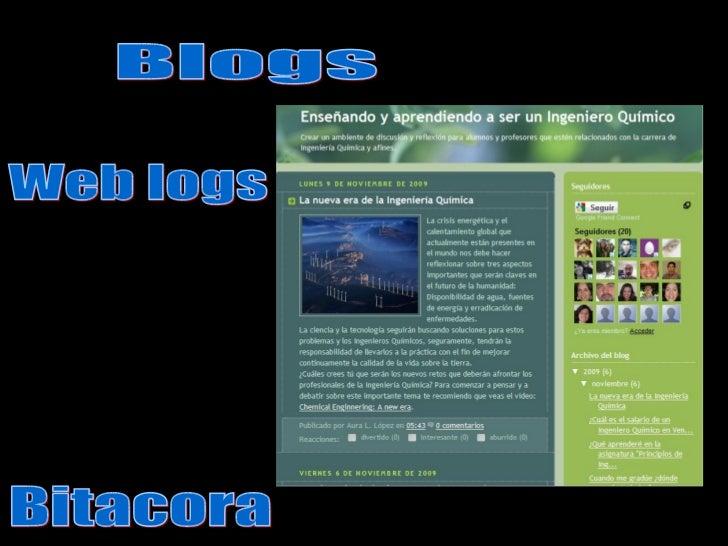 Blogs Web logs Bitacora