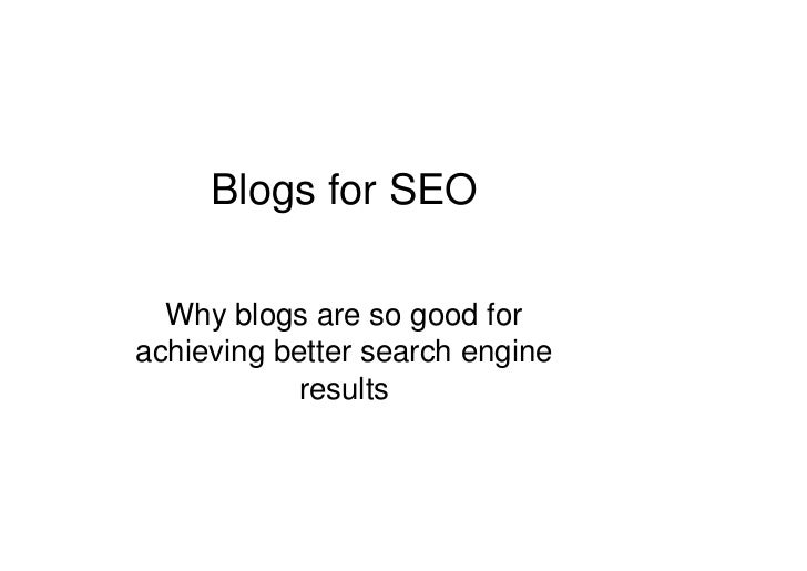 Blogs and SEO Slide 2