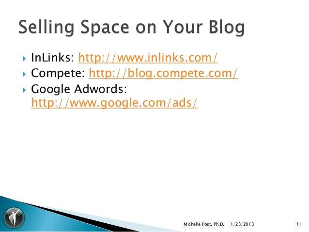    InLinks: http://www.inlinks.com/   Compete: http://blog.compete.com/   Google Adwords:    http://www.google.com/ads/...