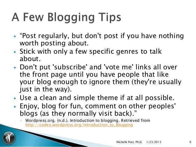 """   """"Post regularly, but dont post if you have nothing    worth posting about.   Stick with only a few specific genres to..."""